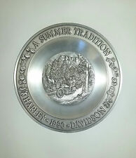 Harley-Davidson A Summer Tradition Collectible Pewter Plate LTD