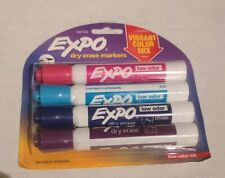 Expo 1927523 Low Odor Dry Erase Markers Chisel Tip Vibrant Colors 4 Count