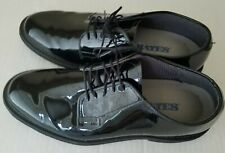 Bates Vibram Mens Black Patent Leather Tuxedo Shoes Size 10 C EXCELLENT