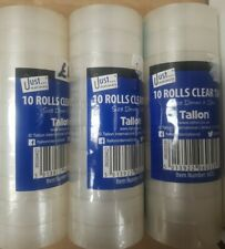 More details for 3 x just stationery mini rolls clear tape 10 pack - wrapping sellotape x3