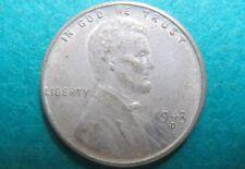 "1943-D  LINCOLN ""STEEL"" PENNY, WW II WHEAT CENT, ""SCARCE"" Denver Mint #C2"
