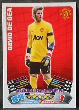 David De Gea Manchester United MUFC Football trading card 2011/2012 match Attax