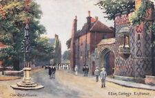 ETON COLLEGE ENTRANCE OILETTE COLOUR  POSTCARD (1914)