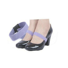 2 Pairs Elastic Shoe Strap Lace Band for Holding Loose High Heel Shoes Decor Apricot