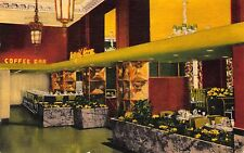 Linen Postcard The Winthrop Hotel's Daffodil Room in Tacoma, Washington~109687
