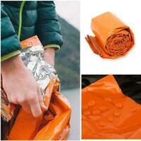 1x Outdoor First-Aid Survival Emergency Tent Blanket K5M4 Bag Sleep Shelter D9V3