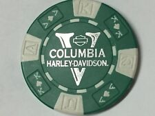 Harley Poker CHIP   COLUMBIA HD   VANCOUVER, WA       GREEN & WHITE