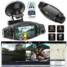 Vehicle Rear Video Camera Car GPS DVR Dash Cam Dual Lens Recorder Night Vision