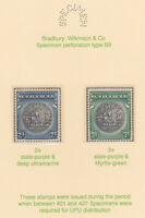 513 BAHAMAS 1931 GREAT SEAL set of 2 perforated  SPECIMEN only  400 produced
