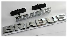 Brabus Grill & Rear Badge Emblema Decalcomania MERCEDES SMART avvio tronco portellone posteriore 31s