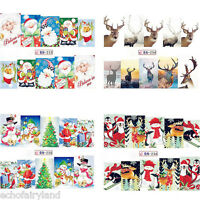 Christmas Nail Art Water Decals Snowflake Deer Nail Transfer Stickers Decoration