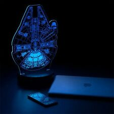 Star Wars (Death Star and Millennium Falcon) Schematic Illuminated Display