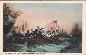 WB postcard, Reynolds, Battle of Lake Erie, Commodore Perry, 1813