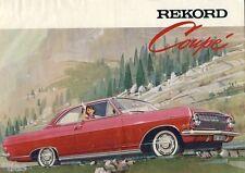 Opel Rekord Coupé PKW car auto original brochure Prospekt um 1964