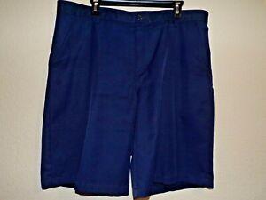 IZOD GOLF Navy Blue Men's Flat Front Shorts - Size 38                         *2