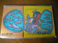 Norval Morrisseau Looking Through The Portal Fridge Magnet Native Ojibway Art