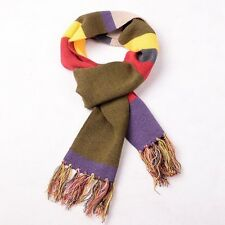 Doctor Who Fourth Dr. Thick Warm Knitted Striped Tassel Scarf Soft Gift
