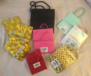 9 Tiny Shiny GIFT BAGS unused