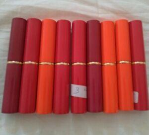 Lotto 9 rossetti lipstick varie tonalità nuovi labbra donna make up trucco stock