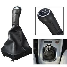 5 Speed Leather Gear Shift Knob Stick Gaiter For VOLKSWAGEN VW POLO MK4 9N 9N2