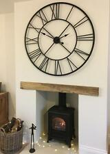 huge extra large metal wall clock iron 110cm roman numerals shabby chic