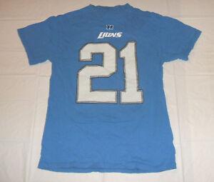 Detroit Lions Reggie Bush #21 Men's Small T-Shirt NFL Team Apparel