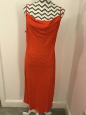 Marks And Spencer Cowl Slip Dress - Bright Orange Size 12 - BNWT!