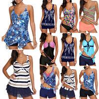 Womens Push Up Padded Tankini Bikini Set Swimsuit Bathing Suit Swimwear Beach