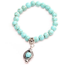 Vintage Boho Turquoise Stone Turtle Bead Bracelet Women Jewellery Gift G