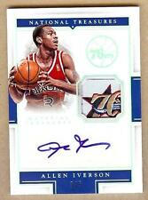 2015-16 NATIONAL TREASURES ALLEN IVERSON AUTO LOGO PATCH 3/5!! JERSEY NUMBER