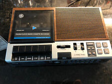 Vintage Ge General Electric 7-4956B Am-Fm Cassette tape Player Alarm Clock Radio