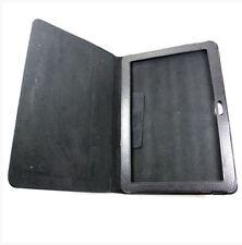 Housse Etui à rabat sur mesure façon cuir noir pour SAMSUNG GALAXY TAB 10.1