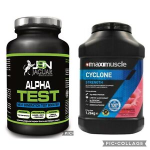 Maximuscle Cyclone Protein Powder 1.26kg Whey Protein Gym & Alpha Test Booster