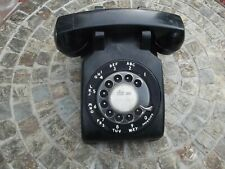 VINTAGE BELL SYSTEMS WESTERN ELECTRIC BLACK ROTARY DESK PHONE , 1960's