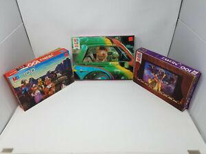 LOT of 3 Vintage 80s MUPPET Jigsaw Puzzles Miss Piggy Kermit Fozzie Cowboy Movie