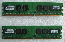Kingston KVR800D2N5K2/2G (1GB 128M x 64-Bit x 2 pcs For Total 2GB) DDR2-800 Kit