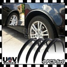"4 x 21"" Black Carbon Fiber Flexible Fender Flares Lip Trim Protective Is-250 350"