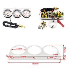 3 in 1 52mm 12V Gauge Kit Water Temp Voltage Oil Pressure Triple Car Meters Kit