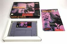 Super Nintendo SNES Choplifter III 3 Complete in Box CIB *Authentic* *Tested*