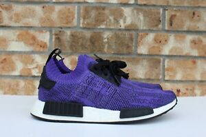 Men's Adidas NMD R1 PK Primeknit Running Shoes Purple Ink Black Sz 9.5 B37627