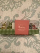 WILLIAMS SONOMA EASTER BUNNY TINY TAPER CANDLE HOLDERS GLASS SET Of 4