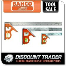 Bahco Combination Square Pack 150mm 300mm 400mm - DTB-CS-PK - CS150+CS300+CS400