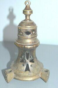 Pièce d' Encensoir d' Eglise Haut Tête Bronze