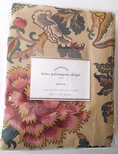 "NWT-Pottery Barn Foundations Keira Palampore Pole Top Drape Panel 96"" Tan Floral"