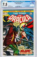1973 Tomb of Dracula #10 MARVEL CGC VF- 7.5 - KEY - 1ST BLADE - MCU