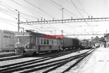 PHOTO  SWITZERLAND TRAM 1985 BIERE BE4/4 TRAM NOS 11 AND 12