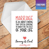 Personalised 'Marriage' LOVE/FUNNY greeting card, gift /Joke/Spoof/Silly/Rude
