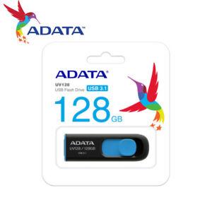 ADATA 128GB / 256GB Capless Design USB 3.1 Flash Pen Drive UV128 BLACK