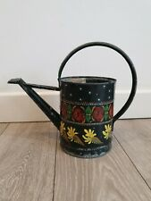 Vintage Small Galvanized Garden Watering Can Original spouted Bargeware steam