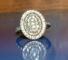 9Carat Gold  Sparkling  oval CZ Ring 💍  white gold